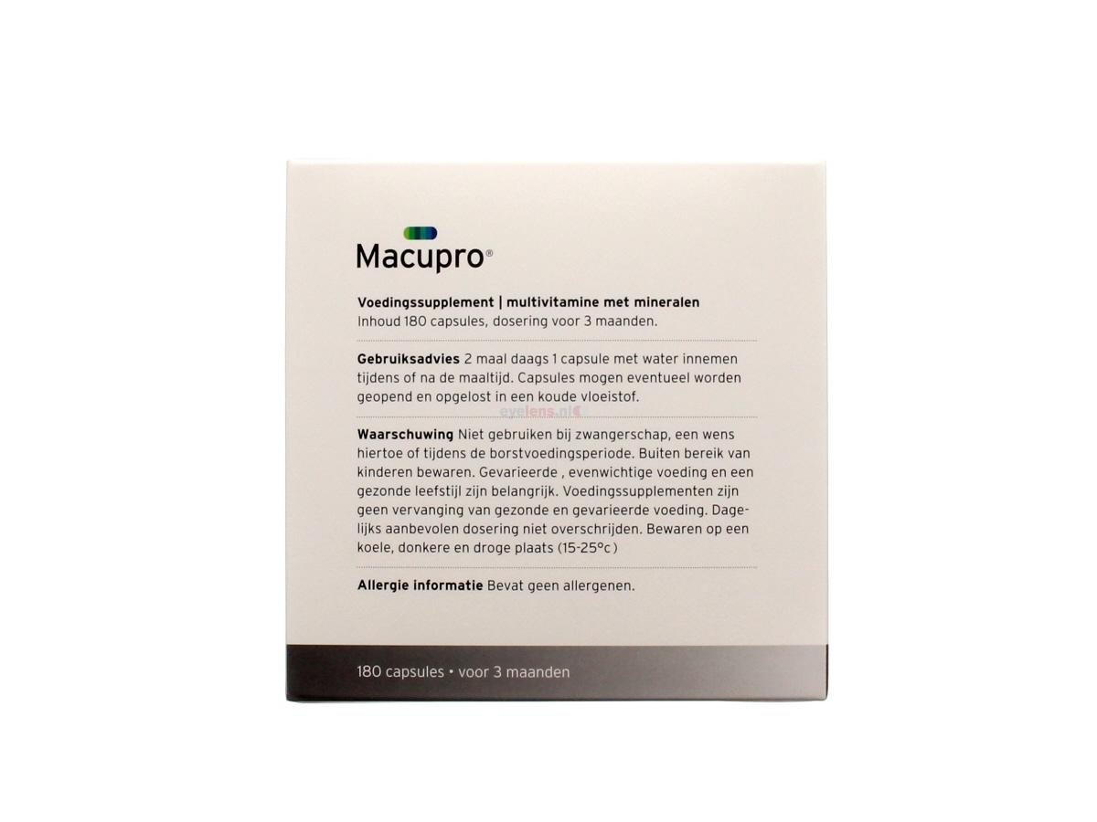Macupro 180 capsules